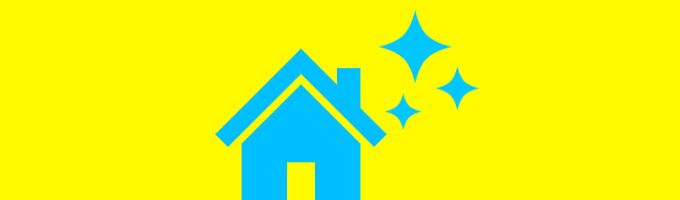 青い家の画像